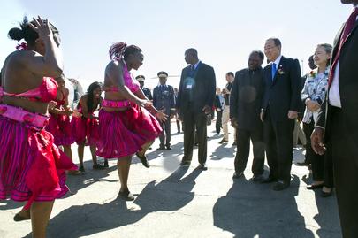 Secretary-General Arrives in Windhoek, Namibia