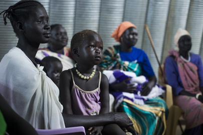 Residents of POC Camp in Juba during UN Officials' Visit