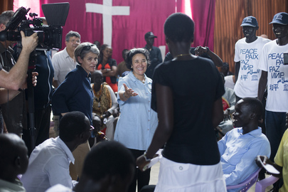 UNESCO Chief and Envoy, UN Representative for Children and Armed Conflict Visit South Sudan