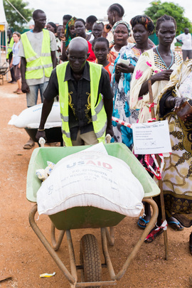 Food Distribution to Internally Displaced in South Sudan