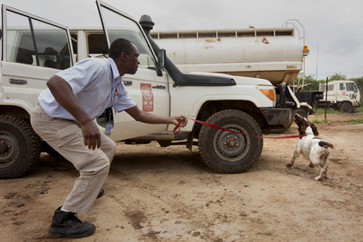 UNMAS Demonstration of Sniffer Dogs at Work in South Sudan