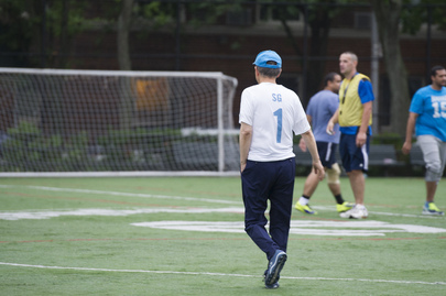 Soccer Match between UN Ambassadors and Journalists