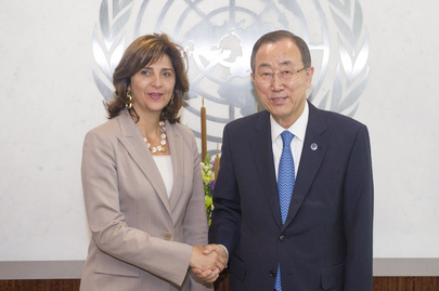 Secretary-General Meets with Foreign Minister of Colombia
