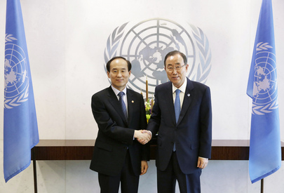 Secretary-General Meets Environment Minister of Republic of Korea