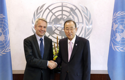 Secretary-General Meets Development Minister of Finland