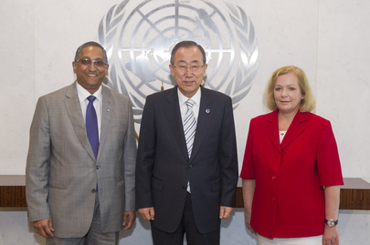 Secretary-General Meets Head of International Narcotics Control Board