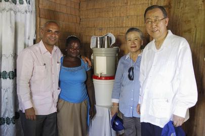 Secretary-General Visits Los Palmas, Haiti