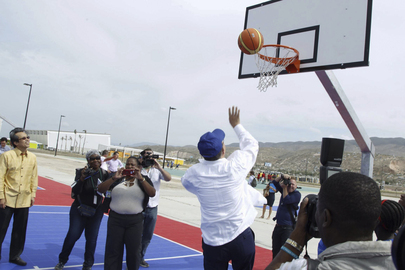 Secretary-General Visits Sports for Hope Centre, Port-au-Prince