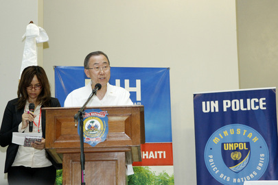 Secretary-General Visits Police Academy and School in Port-au-Prince