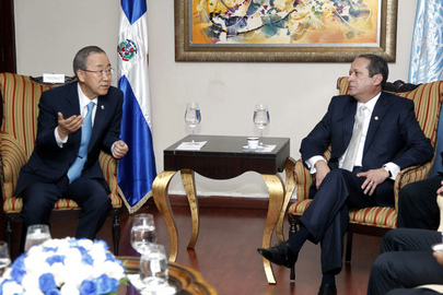 Secretary-General Meets President of Dominican Senate