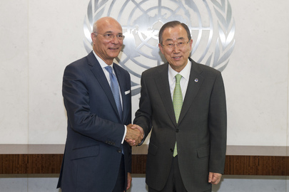 Secretary-General Meets New Deputy Special Envoy for Syria
