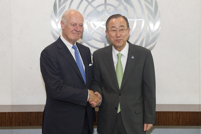 Secretary-General Meets New Special Envoy for Syria