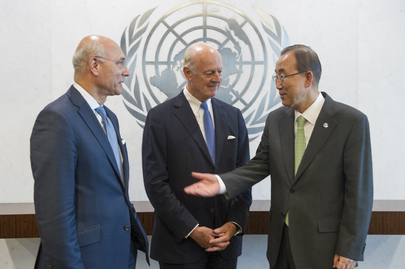 Secretary-General Meets New Syria Envoys
