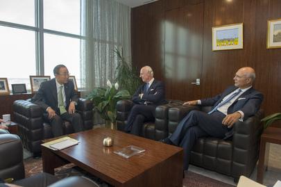 Secretary-General Meets New Syria Envoys