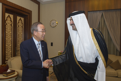 Secretary-General Meets the Amir of the State of Qatar