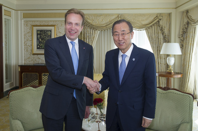 Secretary-General Meets Foreign Minister of Norway in Doha