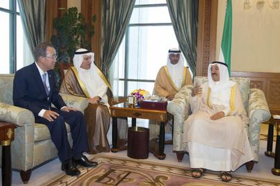 Secretary-General Meets the Amir of Kuwait