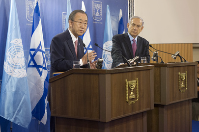 Secretary-General Briefs the Press with Israeli Prime Minister