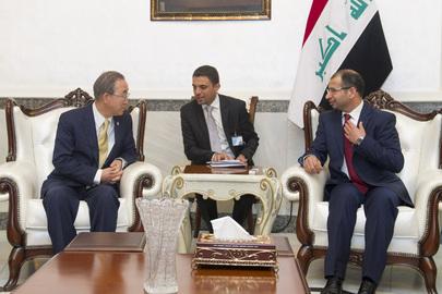 Secretary-General Meets Speaker of Iraqi Parliament