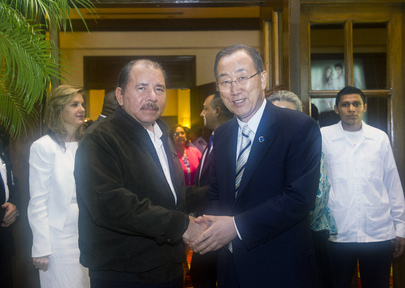 Nicaragual President Hosts Dinner in Honour of Secretary-General
