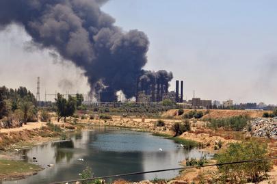 Power Plant Hit in Gaza
