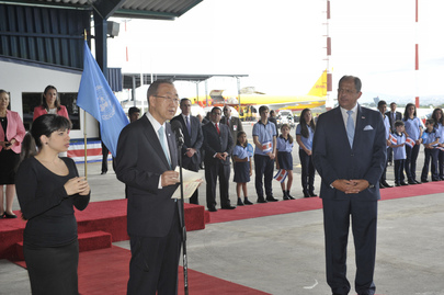 Secretary-General Arrives in Costa Rica