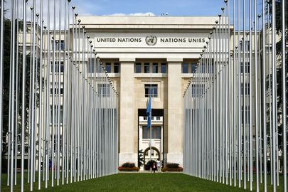 UN Flag at Half-mast in Memory Staff Fallen in Gaza
