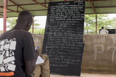 School at Tomping Civilian Protection Site, Juba