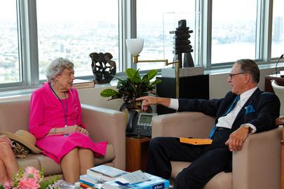 Deputy Secretary-General Meets Most Senior UN Staff Member