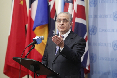 Representative of Iraq Briefs Press