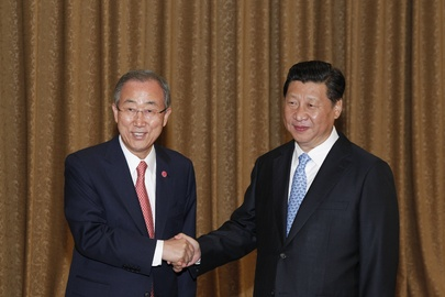 Secretary-General Meets President of China
