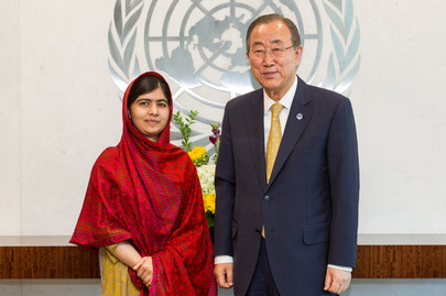 Secretary-General Meets with Malala