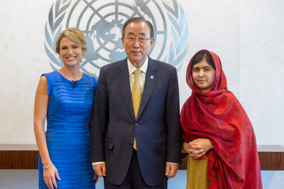 Secretary-General Meets with Malala and Amy Robach
