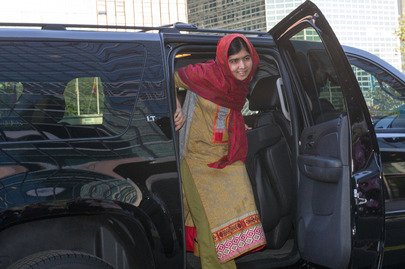 Malala Arrives in UN Headquarters