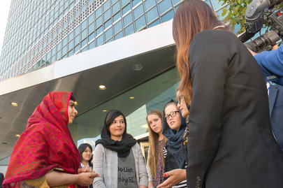 Malala Meets Young People at UN