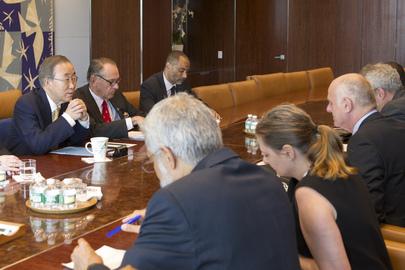 Secretary-General Meets UN Coordinator for Ebola
