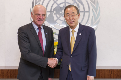 Secretary-General Meets UN Coordinator for Ebola
