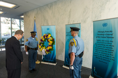 Wreath-laying Ceremony for World Humanitarian Day