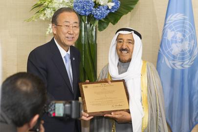 Secretary-General Pays Tribute to Amir of Kuwait for Humanitairan Leadership