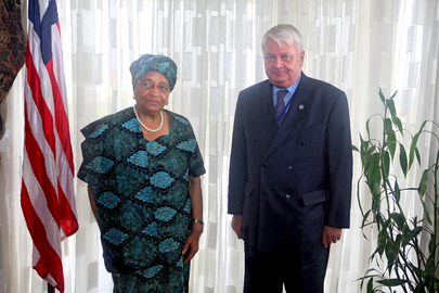 Peacekeeping Chief Meets with Liberian President
