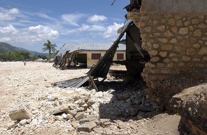 Houses Destroyed by Tropical Storm Jeanne