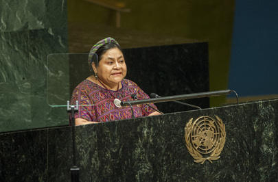 Guatemalan Nobel Laureate Addresses World Conference on Indigenous Peoples