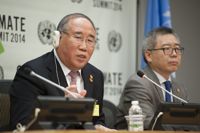 China's NRDC Speaks to Press during Climate Summit