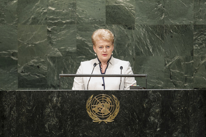 President of Lithuania Addresses General Assembly