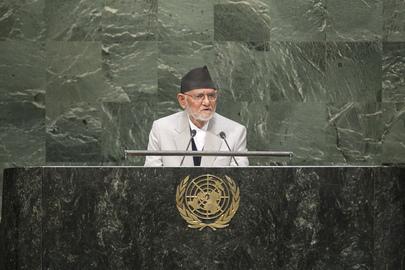 Prime Minister of Nepal Addresses General Assembly
