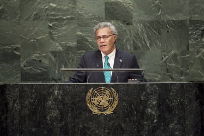 Prime Minister of Tuvalu Addresses General Assembly