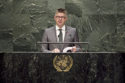 Foreign Minister of Iceland Addresses General Assembly