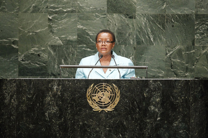 Foreign Minister of Barbados Addresses General Assembly