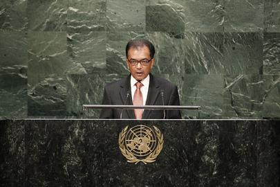 Permanent Representative of Mauritius Addresses General Assembly