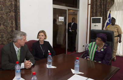 Head of UNMEER Meets President of Liberia